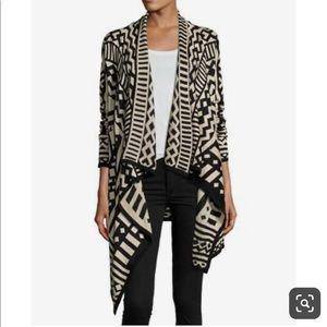 Neiman Marcus Asymmetrical Draped Cardigan size L